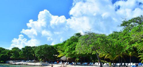 Beach at Maya Key.