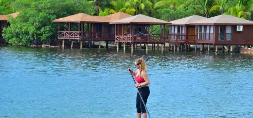 Stand-up paddle boards at Anthony's Key Resort,.
