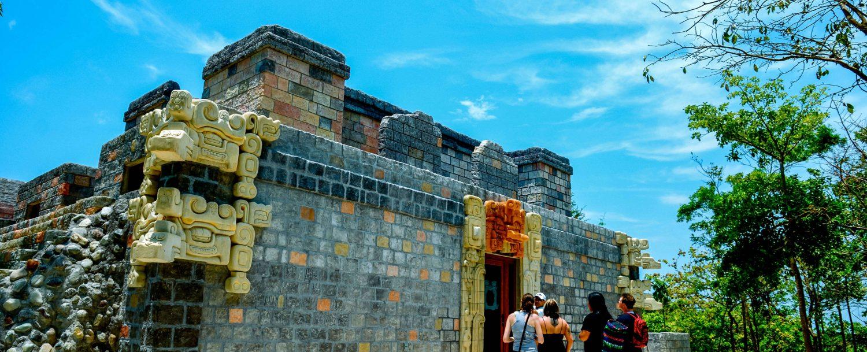 Mayan replica at Maya Key.